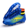 2016 Men High Ankle Soccer Shoes FG Football Boots Boys Kids Sport Soccer Cleats Football Sock