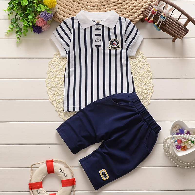 Football kit for Boys Toddler Child Soccer Sportswear Striped Summer Short Sets Baby Kids Clothing Children Sports Suits Short(China (Mainland))