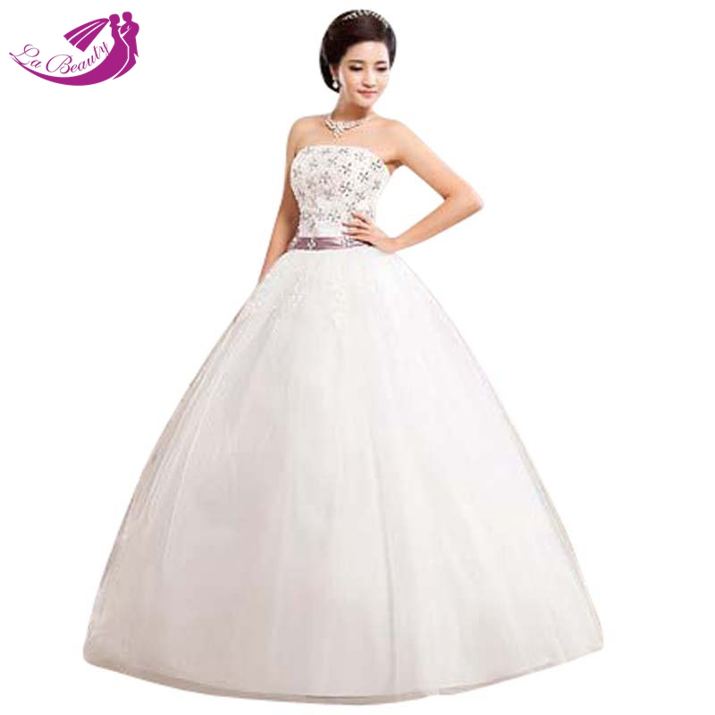 Top Luxury Wedding Dress : Vestido de noiva bridal gown diamond tube top wedding dress luxury