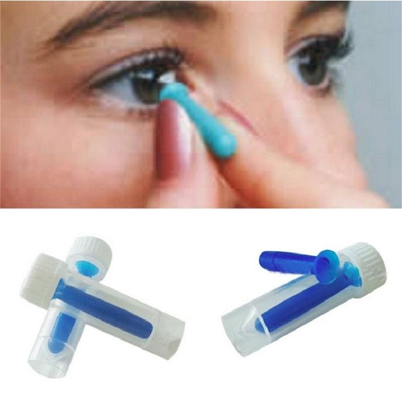 NEW Portable Contact Lens Inserter for Color Colored Halloween Lenses Solid & Hollow Remover For Hard GP Lenses Fashion Stick(China (Mainland))