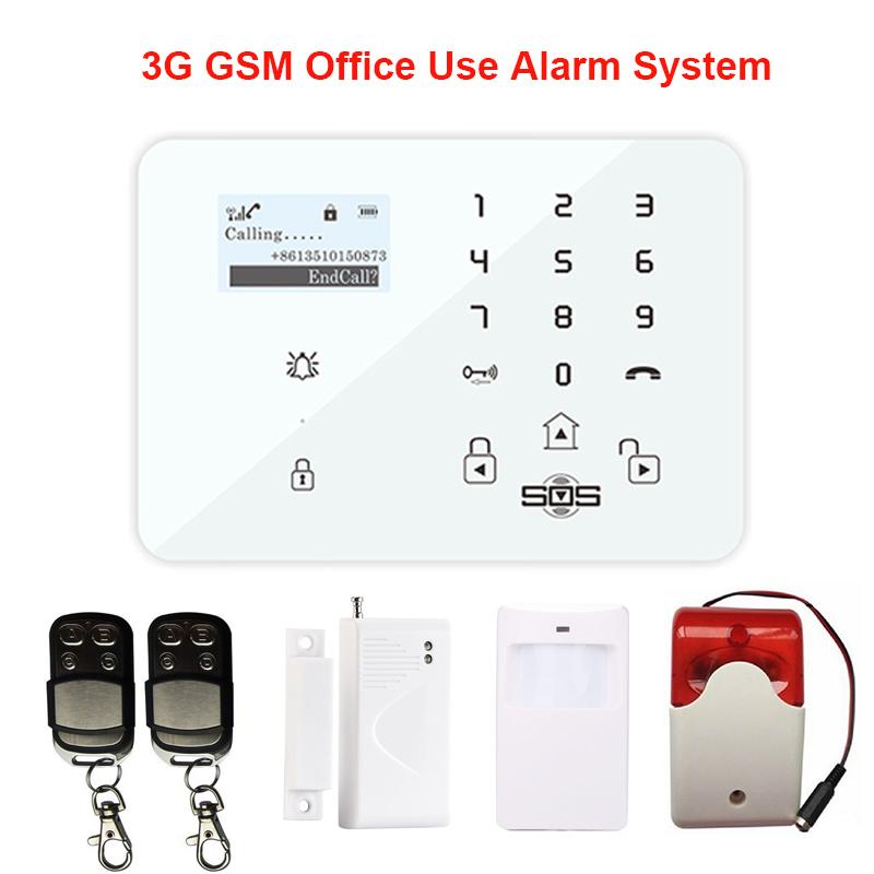 Touch Keypad LCD Display Andriod APP 99 Zones Wireless Home Security GSM Alarm With Door sensor Strobe Siren Burglar System K9A(Hong Kong)