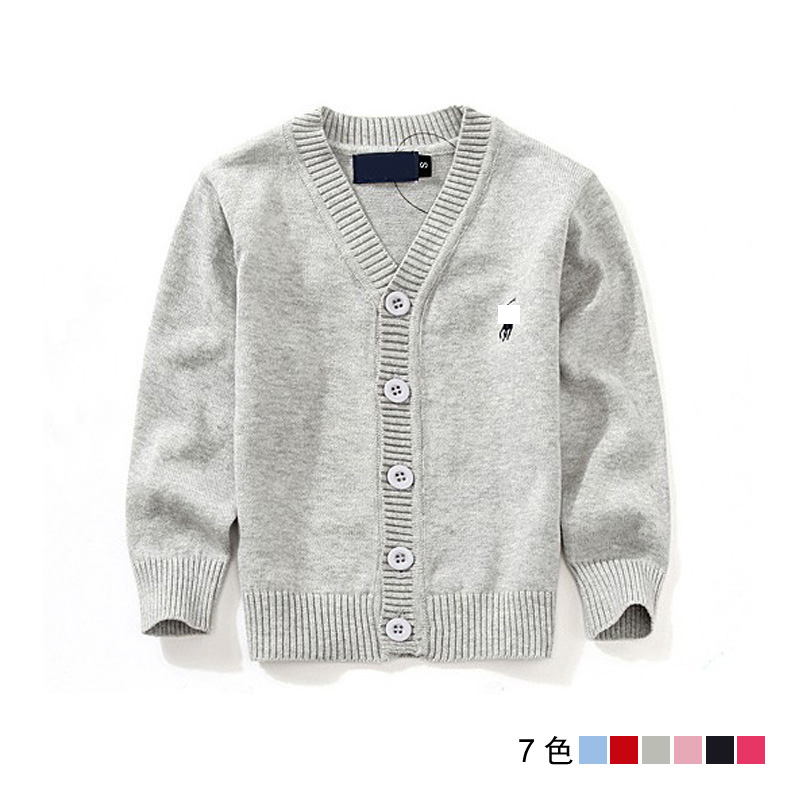 New Hot 6 Colors Children Cardigan Baby Boys Girls Sweaters Child Knitted Pullovers Cardigans Solid Color kids sweater for 2-6T(China (Mainland))