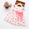 2016 Super Deal Summer Cotton Baby Dress Princess Dress Puff Sleeveless Cute Fashionable Baby Infant Dress
