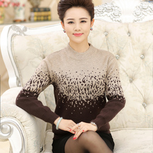 New 2016 cashmere sweater women women's long-sleeve knitted sweater outerwear loose plus size top thickening pullover sweater(China (Mainland))