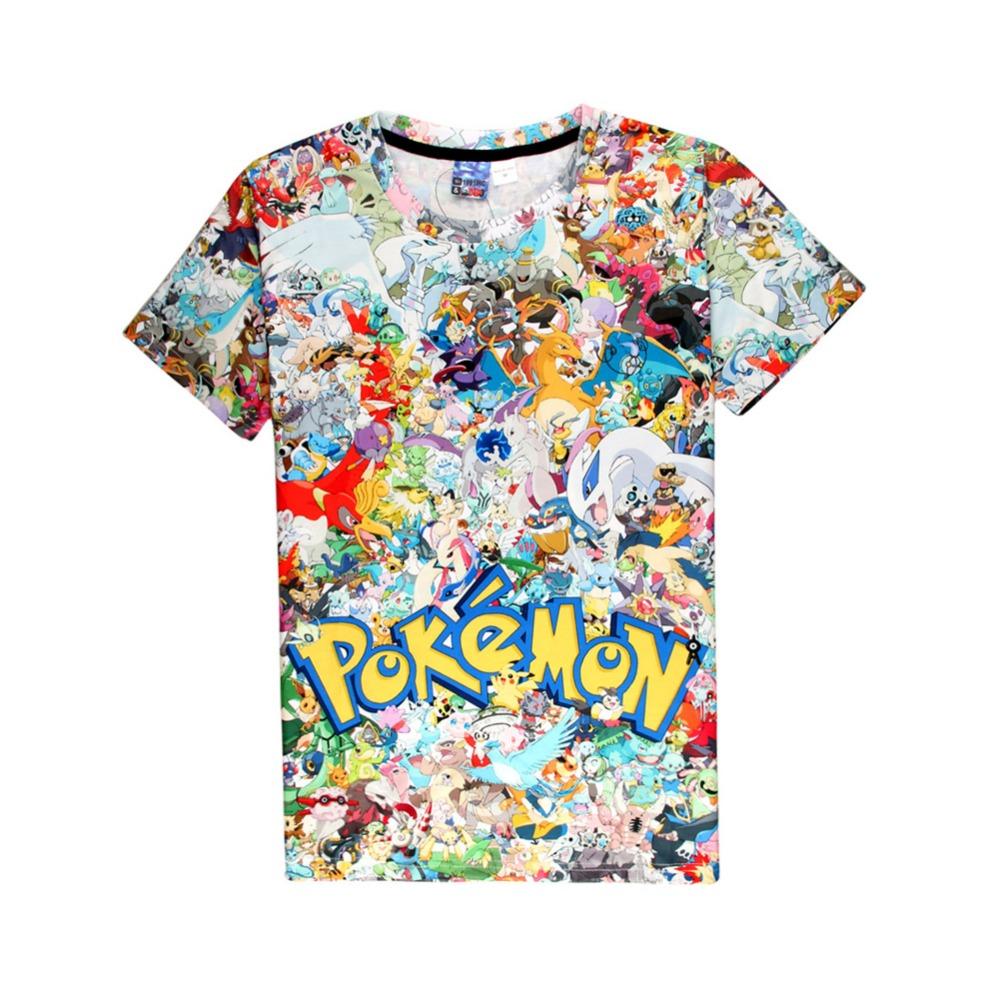 font b Pokemon b font font b Go b font T Shirt 2016 font b