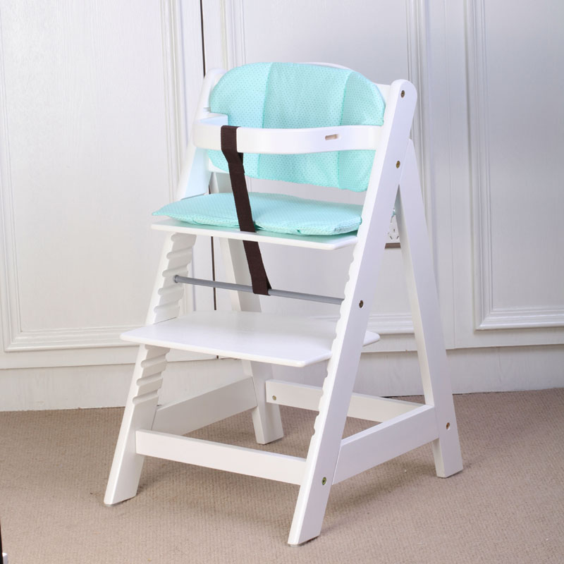 Baby child dining chair solid wood white multifunctional