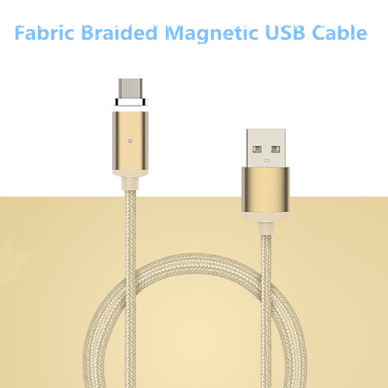 Durable 1m/3ft USB 2.0 Data Sync Charging Nylon Braided Magnetic Micro USB Cable for Huawei for Samsung for HTC Cable Cord(China (Mainland))