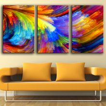 3 Piece Home Decoration Modern Canvas Wall Art the pattern of the color Oil Painting Picture Print On Canvas No Frame(China (Mainland))