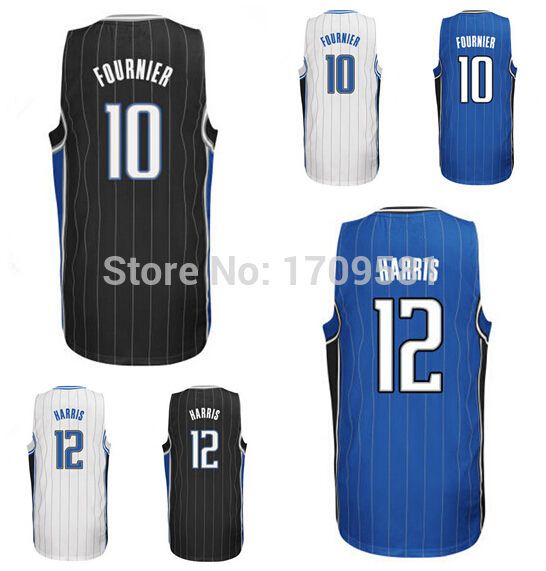 Free delivery top quality! Cheap Orlando 12 Tobias Harris Jersey Wholesale #10 Evan Fournier Basketball Jerseys Custom Rev 30 Ne(China (Mainland))