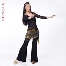 Buy 2016The new Egyptian belly dance hip towel dyed leopard advanced belly dance practice clothes suit wholesale belly dance costume for $26.88 in AliExpress store