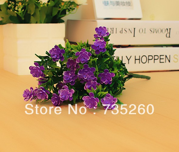 Free shipping,Simulation 21 plants green grass plastic plants artificial flower for home decoration 9pcs/lot(China (Mainland))
