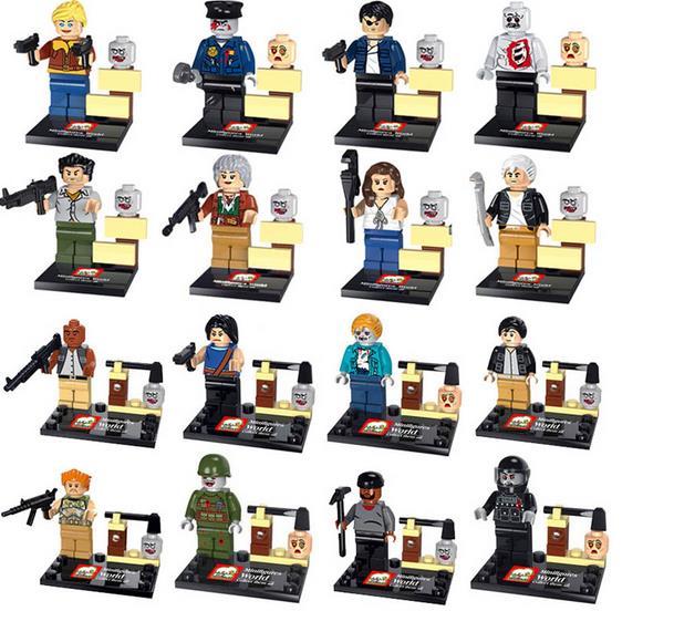 16 Pcs/Lot Children Gifts Compatible Lego The Walking Dead Minifigures Building Blocks Set Figure Model Bricks Baby Toys(China (Mainland))