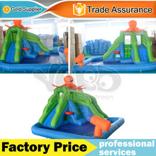 DHL FREE SHIPPING New design inflatable bouncer jumping slide with a pool for sale(China (Mainland))