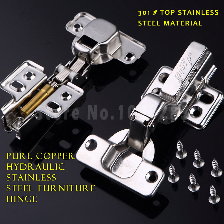 301# stainless steel hinges soft closing cupboard door accessories hinge damper buffer Pure copper hydraulic furniture parts(China (Mainland))