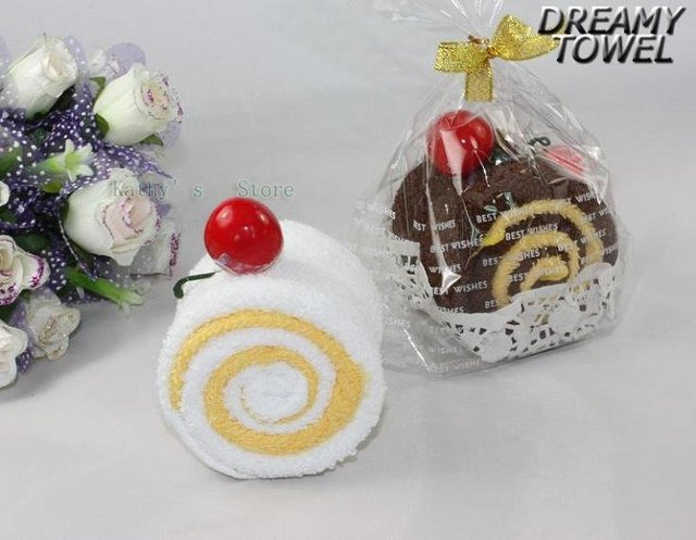Wholesale - - Freely shipping!! towel of cake design for valentine gift or birthday gift100pieces/lot