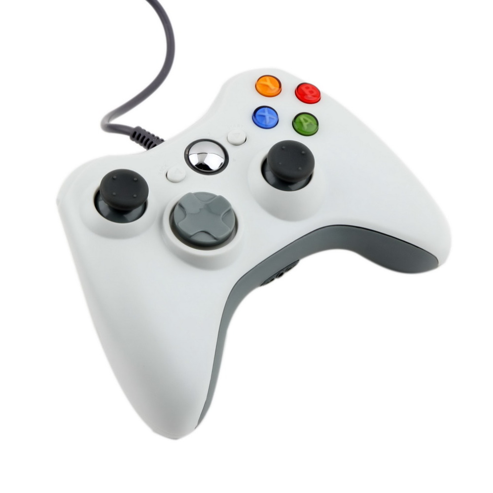 1pcs USB Wired Joypad Gamepad white Controller For Microsoft for Xbox & Slim for 360 PC for Windows 7 Hot Worldwide(China (Mainland))