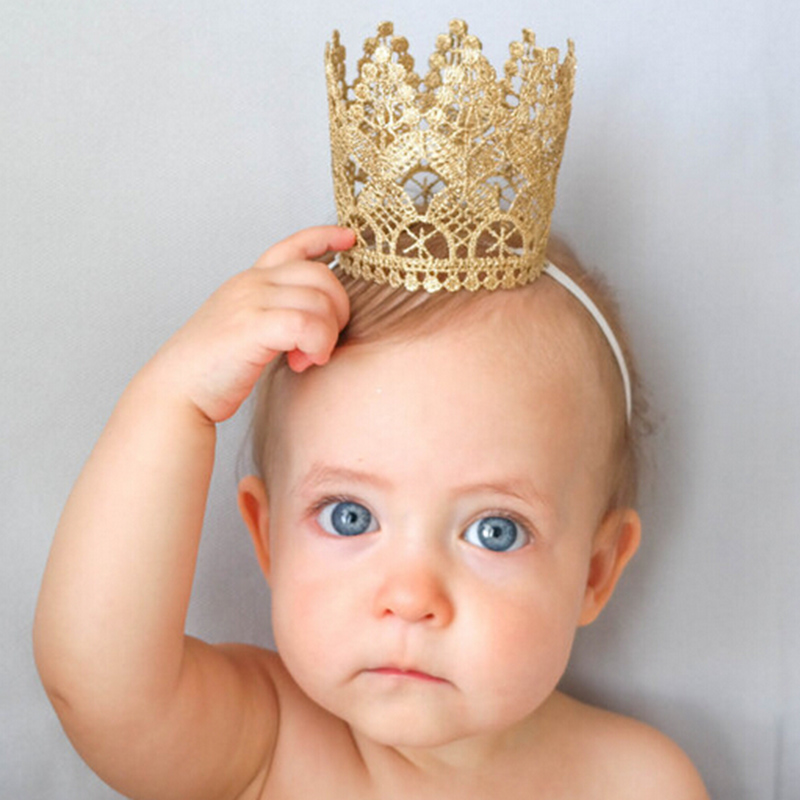 Baby Crown Headband Tiara Birthday Party Hair Accessories Baby Girls Kids Children Headwear Gifts(China (Mainland))