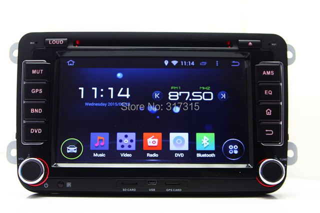 Android 4.4 Car DVD Player for VW Volkswagen Tiguan Touran Caddy Scirocco w/ GPS Navigation Radio BT TV DVR 3G WIFI Audio Video