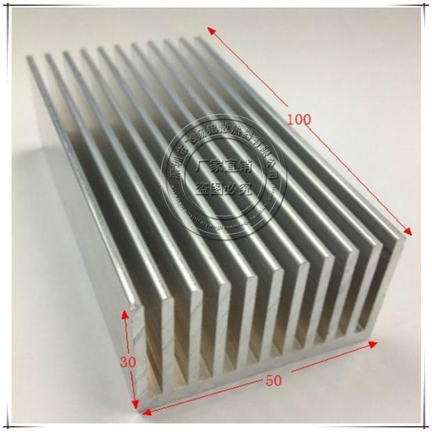 Custom Industrial Extruded Aluminium Heatsink 100x50x30mm LED Light - Filled aluminum Radiator Co., Ltd. store