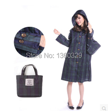 New Korean Style Womens Long Raincoats Plus size burberry_ women Trench with Hood Waterproof Sports Girls Clothes Rain Jacket