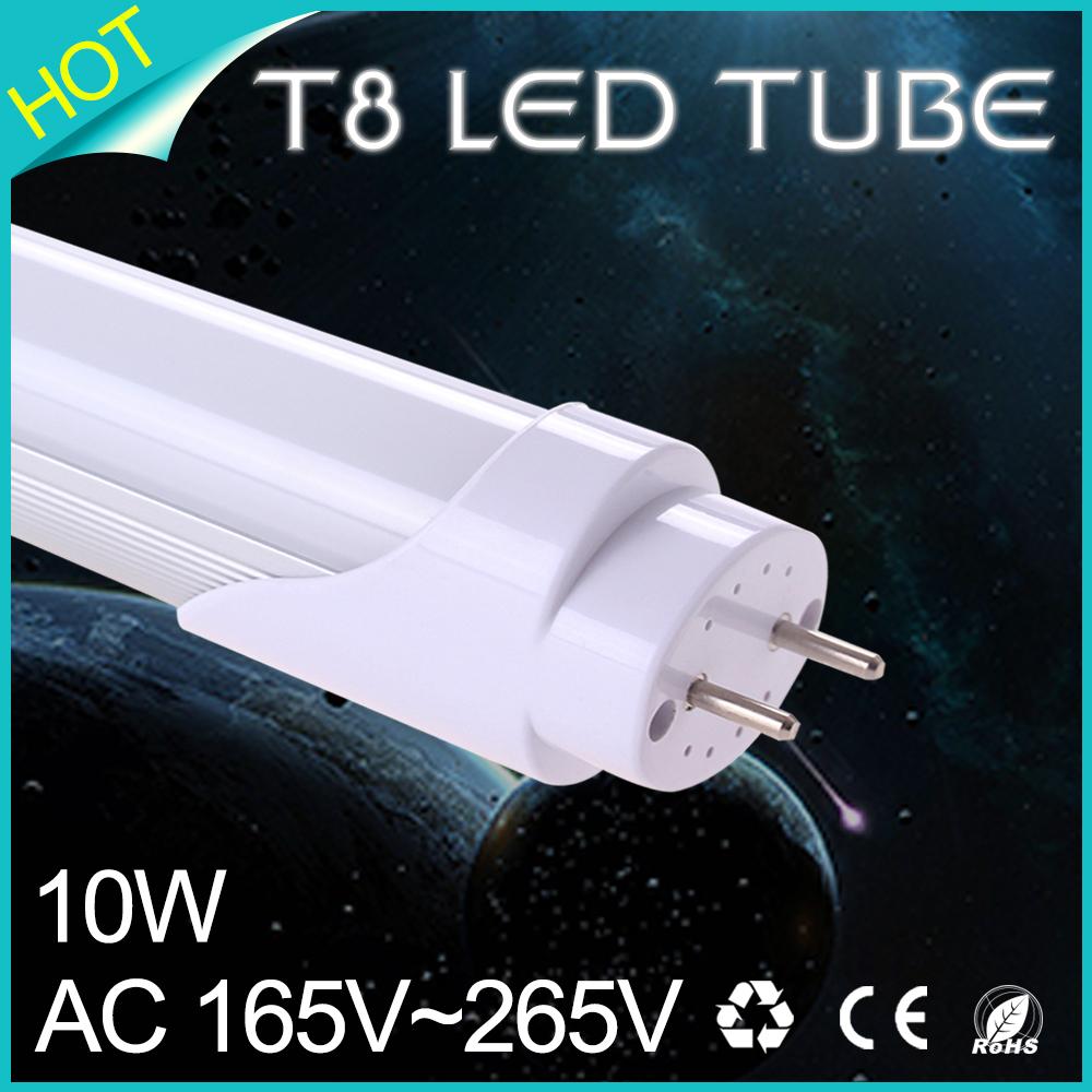 LED Tube Light Bulb t8 led tube 600mm SMD 2835 8W 10W Lamps AC165~265V Cold/Warm White lampada luz led spotlight(China (Mainland))