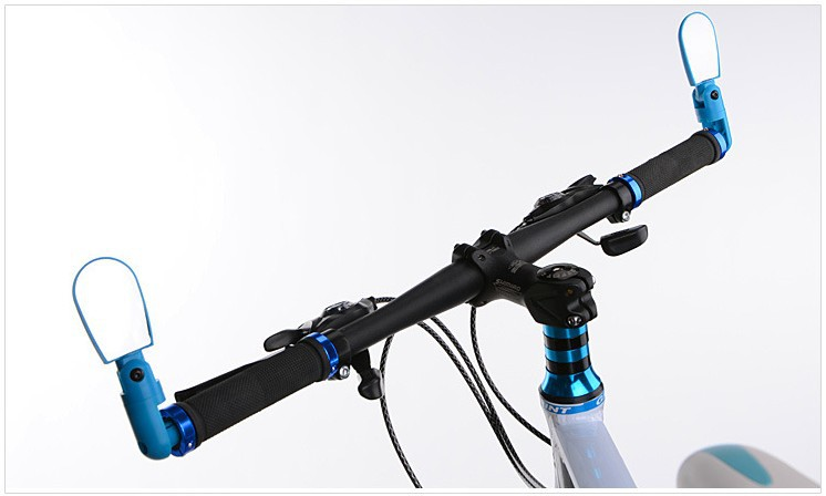 Bicycle Cycling Mini Handlebar End Back View Mirror Rotatable Flexible Rearview Mirror Glasses Mountain Road Bike