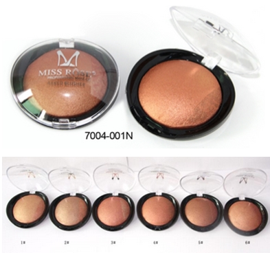 MISS ROSE 1PC For Black Women Beauty Face Blush Makeup Baked Cheek Color Bronzer Blusher Palette colorete Sleek Cosmetic Shadows(China (Mainland))