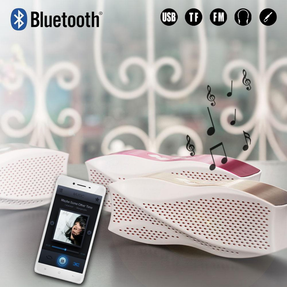 2016 New Design Wireless Bluetooth Speaker Portable Stereo Handfree Altavoz Multifunctional Speakers For IPhone Ipod PC Soundbar(China (Mainland))