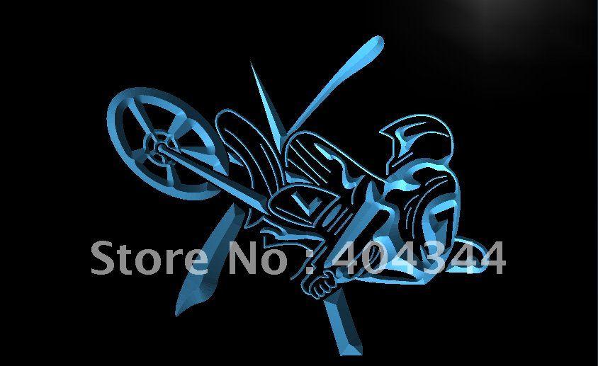 LK109- Motorcycle Show Jump Car Racing LED Neon Light Sign home decor shop crafts(China (Mainland))