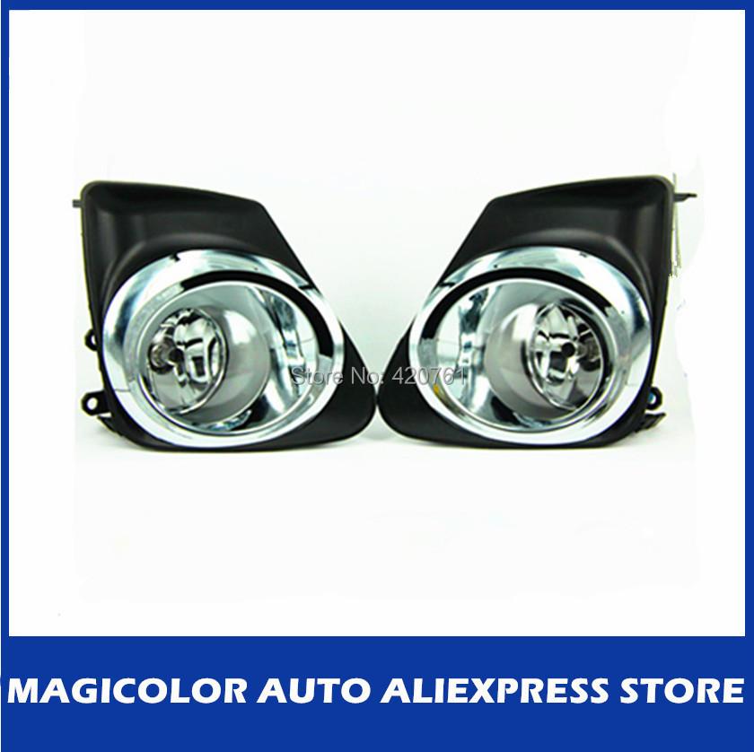 Original Style Chrome Rim Model Auto Fog Lamp for Toyota Corolla Altis 2011 Fog Lights(China (Mainland))