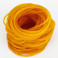 New 1000pcs/pack 45mm Rubber Bands For School Office Household Package Anti-aging Rubber Ring Strong Elastic Yellow Color