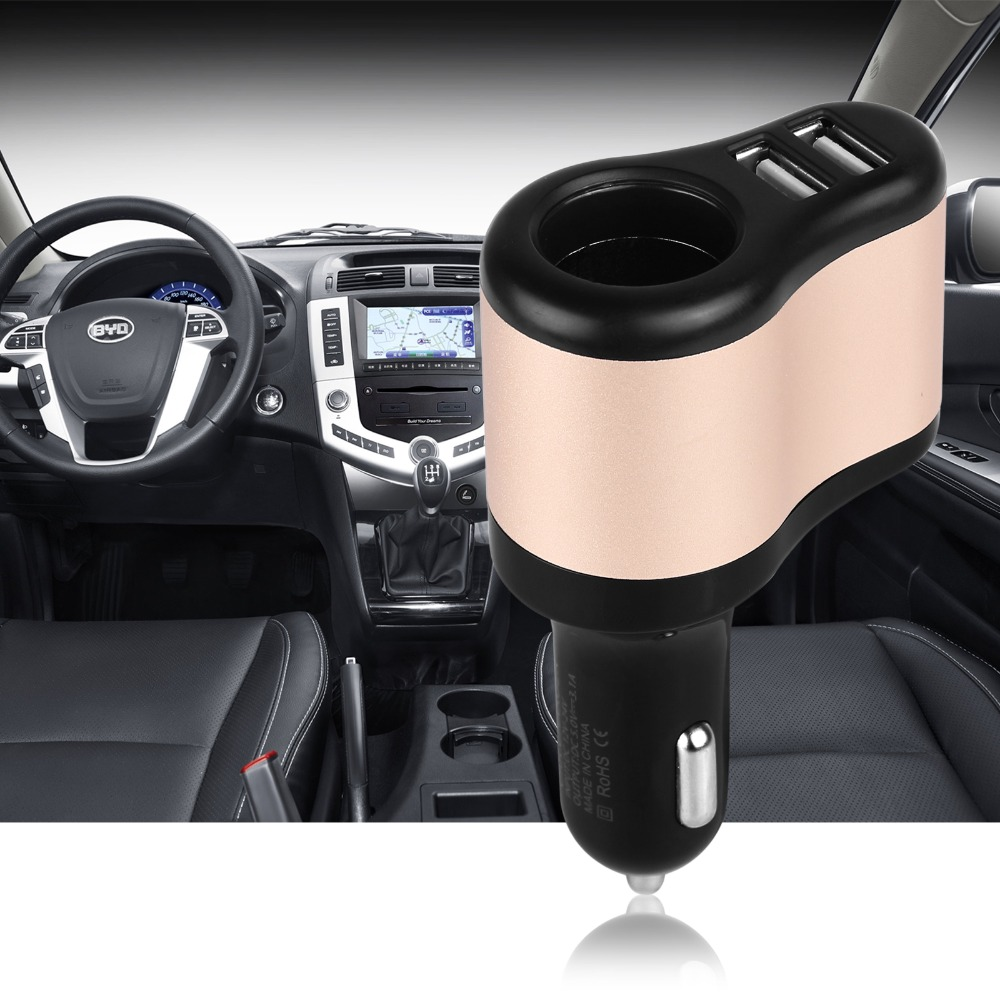 12V-24V Dual USB Car Cigarette Lighter Socket Adapter Charger 5V 3.1A For All Phone Ipad GPS MP3(China (Mainland))