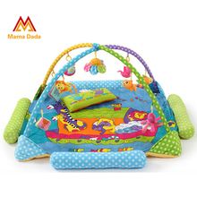 Zoo Kids Rug Baby Play Mat With Rack And Rattels Soft Educational Developing Mat For Children Crawling Carpet Baby Play Gym(China (Mainland))