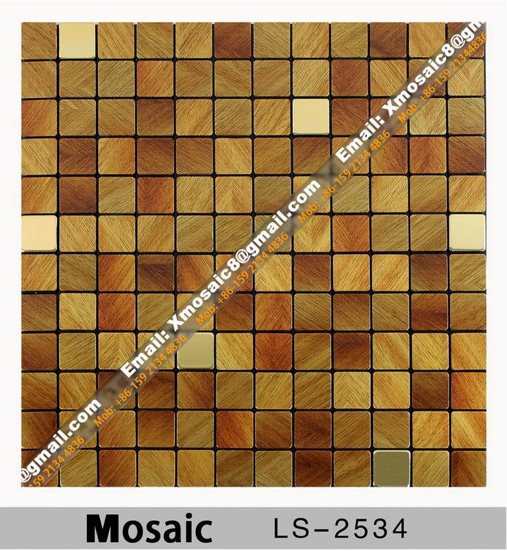 Aluminum Wall Mosaic #LS-2534; Interior Ceiling and wall decoration materials; Size is 316MMX316MM per Piece<br><br>Aliexpress
