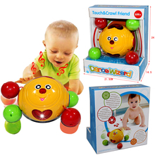 New Baby Gift Smile Crawling Toy With Lighting And Music Baby Toys 0-12 Months  Educational Baby Learning Walking Toy (China (Mainland))