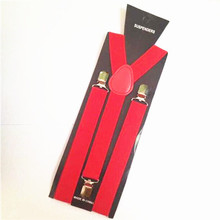 2.5cm width Men Women Unisex Clip-on Suspenders Elastic Y-Shape Adjustable Braces Tirantes Male Pants Jeans Braces Strap