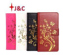 Buy New Original lenovo Vibe C2 Case Wallet Slot Flip Leather Case Phone Cover Golden Flowers lenovo Vibe C2 Cover for $6.68 in AliExpress store