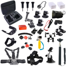 Gopro Accessories kit For Go Pro Hero 4/3/3+ Set Chest Strap Head Belt Mount Monopod Floating For Xiaomi yi SJCAM SJ4000 SJ5000