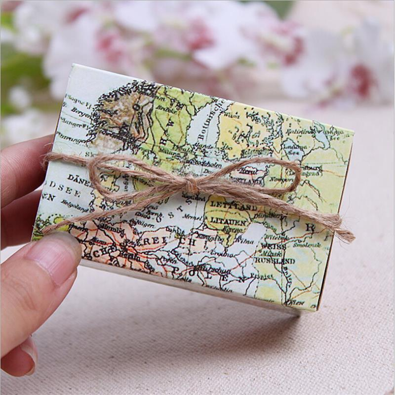 1pcs Casamento World Map Wedding Favor Boxes Wedding Candy Box Wedding Favors And Gifts Event & Party Supplies Straw(China (Mainland))