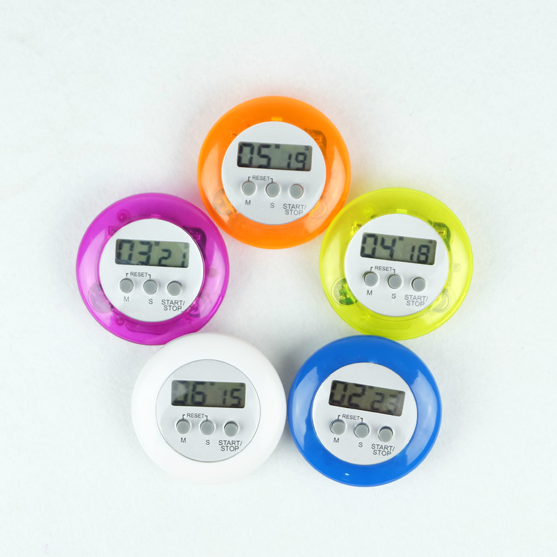 LCD Digital Round Magnetic Kitchen Timer Countdown Alarm Cooking tools Count Down Alarm Clock Timer(China (Mainland))
