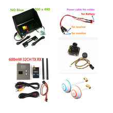 2km RC FPV Combo System Kit 5.8Ghz 600mw Transmitter Receiver NO  blue Monitor 800TVL Camera DJI QAV250 CX20 Quadcopter walkera