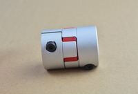 5pcs 12.7mm x 14mm D30 L40 plum shaped clamping flexible coupling shaft coupler encoder stepper motor # XB30x40-12.7x14-5