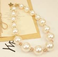 New 2015 Hot Chokers Necklaces Women Simulated Pearl Jewelry Trends Fashion Necklace For Gift Party Wedding