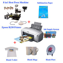 "8 in1 Heat Press Solution for Mugs, T-shirts and Plates 11.0""x15.0"" (280x380mm)(China (Mainland))"