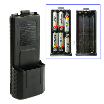 3800mAh 6xAA Battery Case Shell Black For Portable Radio Two Way Transceiver Walkie Talkie Baofeng UV-5R UV-5RE Plus TYT TH-F8