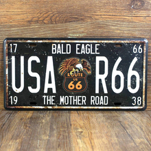 Buy ROUTE 66 FOR USA Metal Tin Signs License Plates Wall art craft Iron vintage metal painting 15x30cm Mural RONE001 for $3.29 in AliExpress store