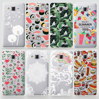 TPU Soft Case For Samsung Galaxy Grand Prime Transparent Colored Drawing Ultra-Thin Silicone TPU Phone Cover For Samsung G530