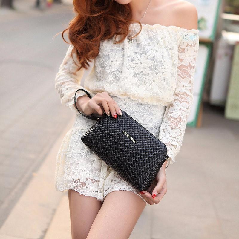 Plaid Shell Bag Women Simple Chequer Crossbody Bag Fashion Casual Clutch Bag Imported PU Leather Zipper Small Bag
