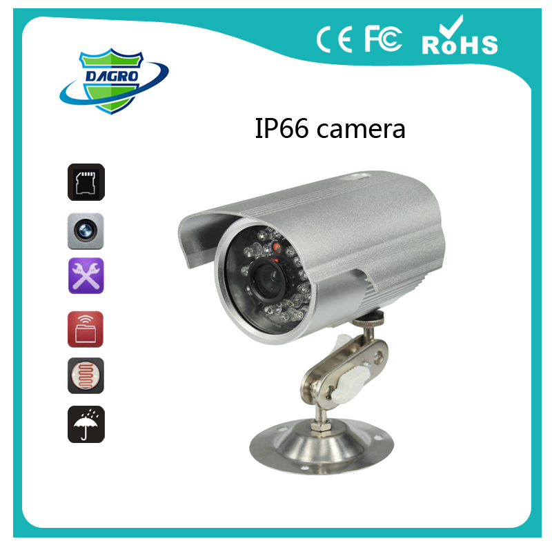 "1/4"" SONY CMOS HD SD Card Outdoor IP66 Waterproof 24 LED IR Night Vision Security Mini CCTV Camera Video Recorder System K808(China (Mainland))"