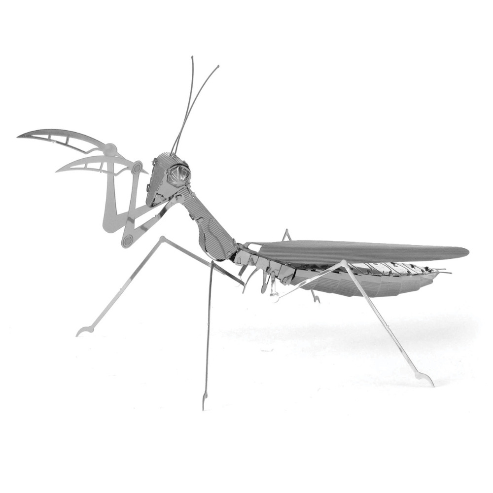3D Puzzle DIY Assembly Metal Stainless Steel Animal Magnetic Praying Mantis Creative Gift Kids Toys Jigsaw Puzzle(China (Mainland))